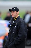 Oct. 3, 2009; Kansas City, KS, USA; NASCAR Nationwide Series driver Erik Darnell during qualifying for the Kansas Lottery 300 at Kansas Speedway. Mandatory Credit: Mark J. Rebilas-