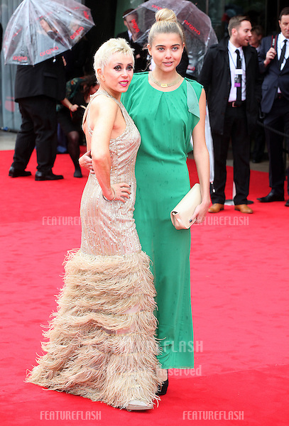 Sally Farmiloe and daughter Jade arriving for the TV BAFTA Awards 2013, Royal Festival Hall, London. 12/05/2013 Picture by: Alexandra Glen / Featureflash