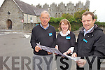 HERITAGE: Staff at Ardfert Cathedral, one of several heritage sites in Kerry which are offering free admission on the first Wednesday of every month, l-r: Michael Keane, Majella Starrett, Donal Stack.