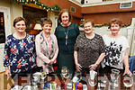 Helen O'Sullivan, Joan Trant, Mary Murphy, Marie O'Sullivan and Eleanor Enright enjoying Womens Christmas in O'Donnells Bar, Mounthawk on Sunday.