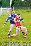 Duagh V St Senan's : Duagh's Nigel O'Connor wins the ball depeite the close attention of St. Senan's Sean Weir in the division playoff in Moyvane on Sunday last.