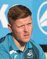 Alfie Mawson of Swansea City ahead of the 2017/18 Pre Season Friendly match between Barnet and Swansea City at The Hive, London, England on 12 July 2017. Photo by Andy Rowland.