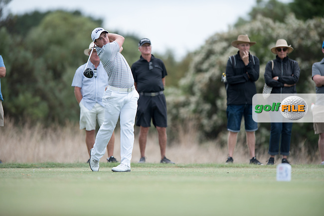 Paul Dunne (IRL) during the 2nd round of the VIC Open, 13th Beech, Barwon Heads, Victoria, Australia. 08/02/2019.<br /> Picture Anthony Powter / Golffile.ie<br /> <br /> All photo usage must carry mandatory copyright credit (&copy; Golffile | Anthony Powter)