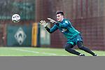 03.12.2018, Trainingsgelaende am Weserstadion, Bremen, GER, 1.FBL, Training SV Werder Bremen<br /> <br /> im Bild <br /> Michael Zetterer (Werder Bremen #16) beim individuellen Training, <br /> <br /> Foto &copy; nordphoto / Ewert