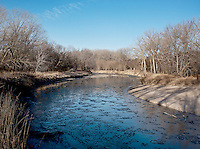 An ice filled river in white tail deer habitat in Superior, Nebraska, Friday, December 2, 2011. ..Photo by Matt Nager