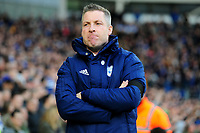 Neil Harris Manager of Cardiff City during the Sky Bet Championship match between Cardiff City and Swansea City at the Cardiff City Stadium in Cardiff, Wales, UK. Sunday 12 January 2020