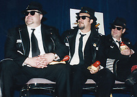 Blues Brothers6026.JPG<br /> <br /> 1997 <br /> John Goodman, James Belushi,<br /> Dan Aykroyd, James Brown 1997<br /> Photo to By John Barrett-PHOTOlink.net/MediaPunch