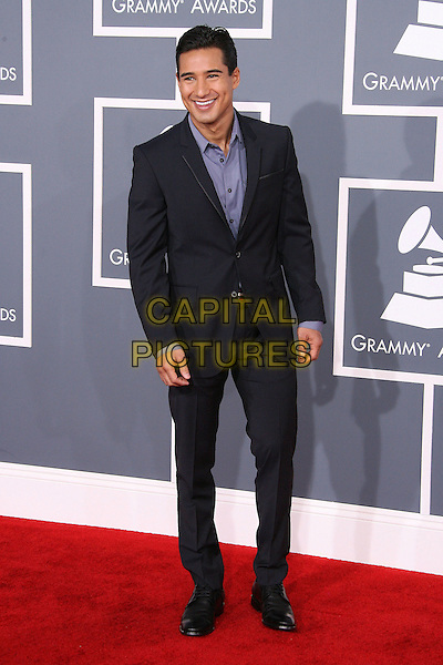 Mario Lopez.The 54th Annual GRAMMY Awards held at the Staples Center, Los Angeles, California, USA..February 12th, 2012.full length suit blue shirt black .CAP/ADM.©AdMedia/Capital Pictures.