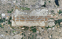 aerial map view above Boeing Field King County International Airport BFI Seattle Washington