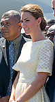 """CATHERINE, DUCHESS OF CAMBRIDGE.was looking tired and not her usual jovial self as the couple departed the Solomon Islands for Tuvalu, the last destination on their Asia-Pacific Tourfrom Honiara Airport_18/09/2012.Clutching a fan and  with hands on her belly Kate looked apprenhensive - was it the closeness of the impending return to the UK and was there another reason..Mandatory credit photo: ©NEWSPIX INTERNATIONAL..(Failure to credit will incur a surcharge of 100% of reproduction fees)..                **ALL FEES PAYABLE TO: """"NEWSPIX INTERNATIONAL""""**..IMMEDIATE CONFIRMATION OF USAGE REQUIRED:.DiasImages, 31a Chinnery Hill, Bishop's Stortford, ENGLAND CM23 3PS.Tel:+441279 324672  ; Fax: +441279656877.Mobile:  07775681153.e-mail: info@newspixinternational.co.uk"""