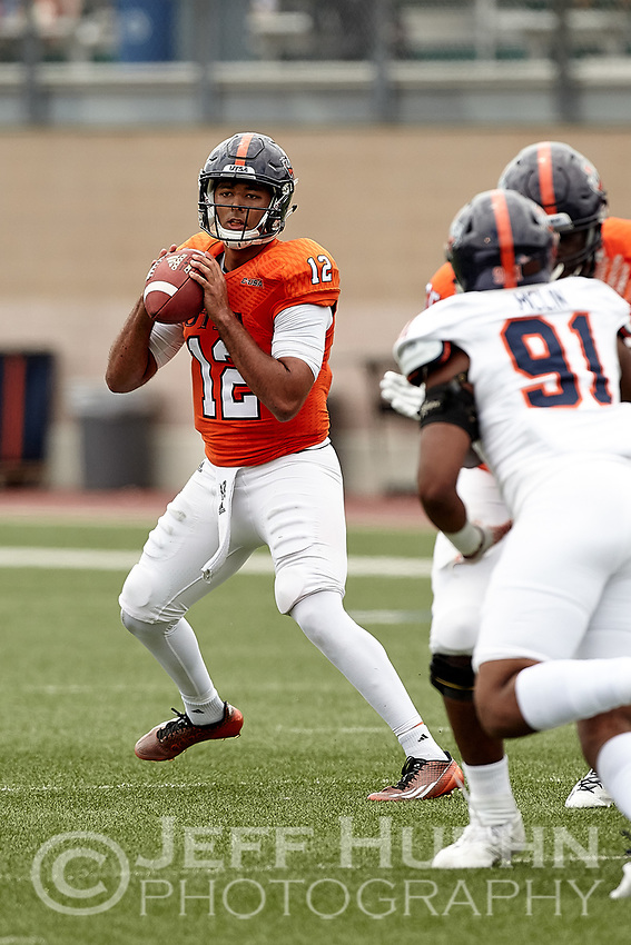 SAN ANTONIO, TX - APRIL 15, 2017: The University of Texas at San Antonio Roadrunners hold their UTSA Football Fiesta Spring Game at Dub Farris Stadium. (Photo by Jeff Huehn)