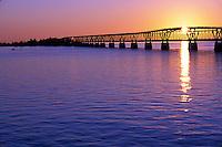 Old Bahia Honda bridge at sunrise, Florida Keys