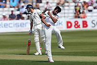 Mohammad Amir of Essex claims the wicket of Nick Gubbins during Essex CCC vs Middlesex CCC, Specsavers County Championship Division 1 Cricket at The Cloudfm County Ground on 26th June 2017