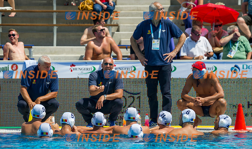 Team Romania<br /> Romania (White) Vs Georgia (Black)<br /> ROU-GEO<br /> LEN European Water Polo Championships 2014<br /> Alfred Hajos -Tamas Szechy Swimming Complex<br /> Margitsziget - Margaret Island<br /> Day01 - July 14 <br /> Photo Pasquale Mesiano/Inside/
