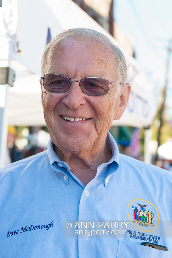 Bellmore, New York, USA. 20th September 2015. New York State Assemblyman DAVE MCDONOUGH attends the 29th Annual Bellmore Family Street Festival, with over 100,000 people expected to attend over the weekend.