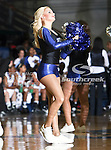 A Texas - Arlington Mavericks dance team member performs during the game between the Texas State Bobcats and the UTA Mavericks held at the University of Texas at Arlington's, Texas Hall, in Arlington, Texas. UTA defeats Texas State 79 to 63
