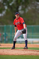 Atlanta Braves pitcher Matt Custred (87) during an intrasquad Spring Training game on March 25, 2016 at ESPN Wide World of Sports Complex in Orlando, Florida.  (Mike Janes/Four Seam Images)