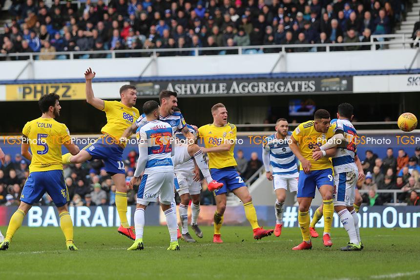 Harlee Dean of Birmingham City scores and celebrates during Queens Park Rangers vs Birmingham City, Sky Bet EFL Championship Football at Loftus Road Stadium on 9th February 2019