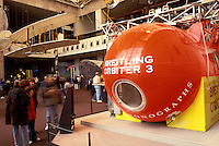 National Air and Space Museum, balloon, orbiter, Washington, DC, District of Columbia, Breitling Orbiter 3 Gondola at the National Air & Space Museum of the Smithsonian Institution.