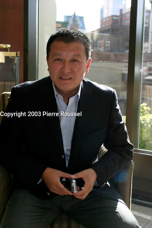 August 30 2003  Montreal, Quebec, Canada<br /> <br /> Chinese Film maker Yahzou Yang<br /> , pose for an exclusive photo in Montreal<br /> <br /> <br /> The Festival runs from August 27th to september 7th, 2003<br /> <br /> <br /> Mandatory Credit: Photo by Pierre Roussel- Images Distribution. (&copy;) Copyright 2003 by Pierre Roussel <br /> <br /> All Photos are on www.photoreflect.com, filed by date and events. For private and media sales