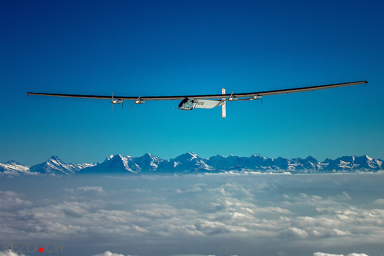 Payerne, Switzerland: Today,Solar Impulse 2, the second single-seater solar aircraft of Bertrand Piccard and André Borschberg designed to take up the challenge of the first round-the-world solar flight, without any fuel in 2015, carried out its eighteenth  test flight out of the Payerne aerodrome in Switzerland. The plane flew at a high altitude. There will be several other test flights taking place in the coming months in order for this experimental machine to attain certification. They will be followed by training flights of Bertrand Piccard and André Borschberg later in the season still from Payerne airfield. The attempt to make the first round-the-world solar-powered flight is scheduled to start in March 2015 from Gulf area. Solar Impulse will fly, in order, over the Arabian Sea, India, Myanmar, China, the Pacific Ocean, the United States, the Atlantic Ocean and Southern Europe or North Africa before closing the loop by returning to the departure point. Landings will be made every few days to change pilots and organize public events for governments, schools and universities.