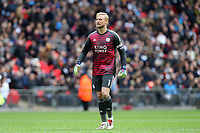 Kasper Schmeichel of Leicester City during Tottenham Hotspur vs Leicester City, Premier League Football at Wembley Stadium on 10th February 2019