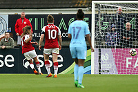 Danielle van de Donk of Arsenal Women scores the opening Gunners goal  during Arsenal Women vs Manchester City Women, FA Women's Super League FA WSL1 Football at Meadow Park on 12th May 2018
