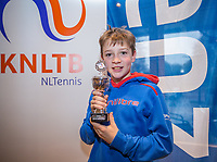 Hilversum, Netherlands, December 3, 2017, Winter Youth Circuit Masters, 12,14,and 16 years, 6 th place boys  12 years Stefan Mos <br /> Photo: Tennisimages/Henk Koster