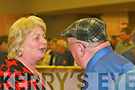 Jackie Healy-Rae and Marie Moloney at the South Kerry count in The Malton Hotel, Killarney, early on Saturday morning..