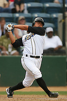 June 15 2007:  Hank Conger of the Rancho Cucamonga Quakes during game against the Modesto Nuts at The Epicenter in Rancho Cucamonga,CA.  Photo by Larry Goren/Four Seam Images