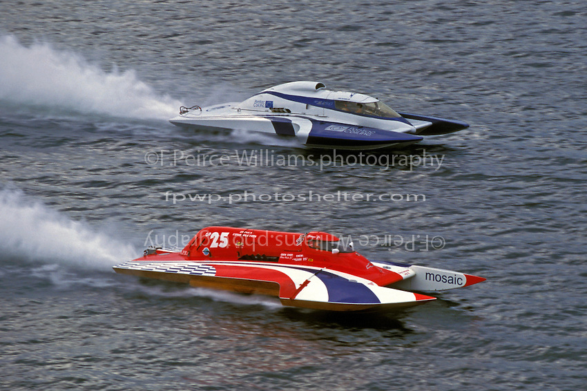 "Tom Snyder, GP-154 ""Pontiac Coil"" and George Kenedy, Jr. GP-25, Valleyfield, Quebec, Canada 1999."