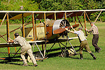 The Old Rhinebeck Aerodrome is a living museum where vintage and historic aircraft are restored, rebuilt, preserved and kept flying over the skies above the Hudson Valley in New York.