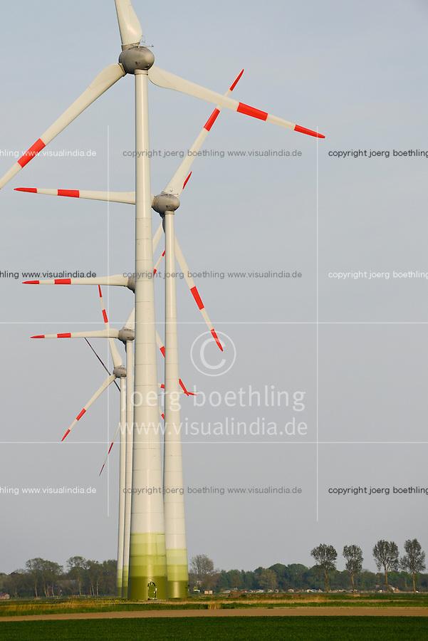 GERMANY Marne, Enercon wind turbine E-82 / DEUTSCHLAND, Windkraftanlagen Enercon E-82 in Reihe