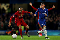 3rd March 2020; Stamford Bridge, London, England; English FA Cup Football, Chelsea versus Liverpool; Fabinho of Liverpool shields the ball from Ross Barkley of Chelsea