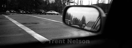 Rear view mirror, traffic<br />