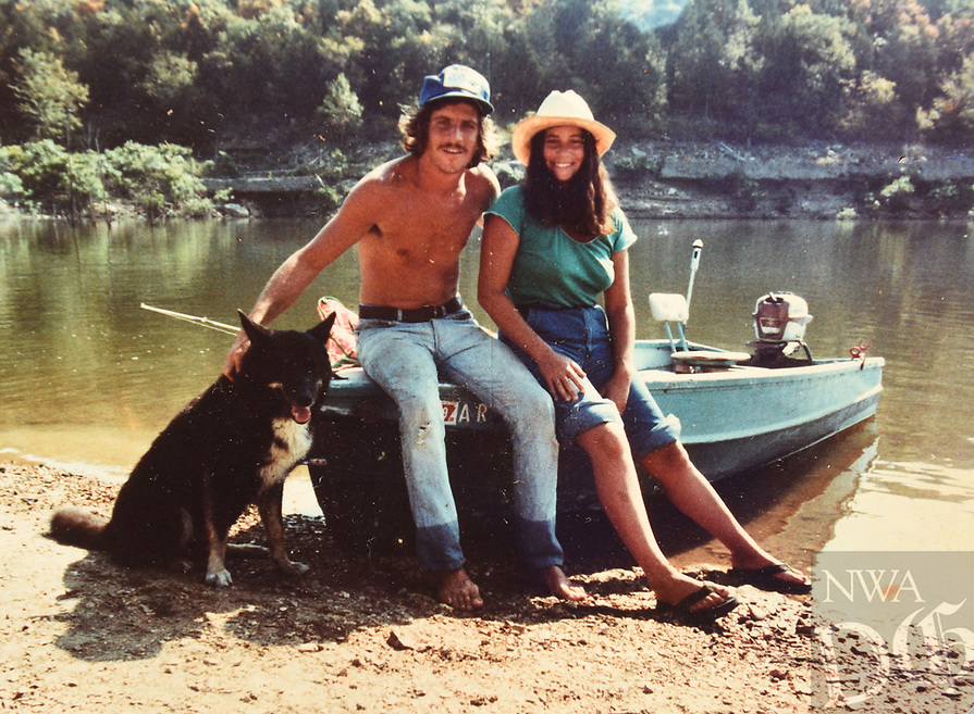 NWA Democrat-Gazette/FLIP PUTTHOFF <br /> We were proud to help this couple out on their quest to explore all of the White River lakes. They're shown here in 1978 as they set out on Bull Shoals Lake.