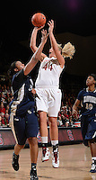 STANFORD, CA - DECEMBER 28: Joslyn Tinkle of Stanford women's basketball puts up a shot in a game against Xavier on December 28, 2010 at Maples Pavilion in Stanford, California.  Stanford topped Xavier, 89-52.