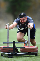Elliott Stooke of Bath Rugby in action. Bath Rugby pre-season S&C session on June 22, 2017 at Farleigh House in Bath, England. Photo by: Patrick Khachfe / Onside Images