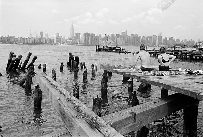 Manhattan skyline, New York City, New York, August 1991.