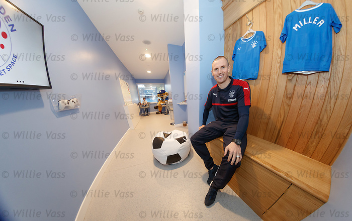Kenny Miller opens Broxi's Den the new sensory room at Ibrox for children with complex learning difficulties.