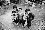 Shatila, the &quot;gipsy camp&quot; below the Sports city of Beirut. Children are everywhere!.<br />  <br /> Chatila, camp des &laquo;Nourieh&raquo; (Tsiganes). Les enfants sont partout!