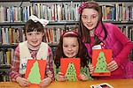 Aine, Olivia and Rachel at the Christmas Workshop in The Library...(Photo credit should read Jenny Matthews www.newsfile.ie)....This Picture has been sent you under the conditions enclosed by:.Newsfile Ltd..The Studio,.Millmount Abbey,.Drogheda,.Co Meath..Ireland..Tel: +353(0)41-9871240.Fax: +353(0)41-9871260.GSM: +353(0)86-2500958.email: pictures@newsfile.ie.www.newsfile.ie.