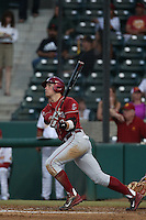 Shea Donlin (3) of the Washington State Cougars bats during a game against the Southern California Trojans at Dedeaux Field on March 13, 2015 in Los Angeles, California. Southern California defeated Washington State, 10-3. (Larry Goren/Four Seam Images)