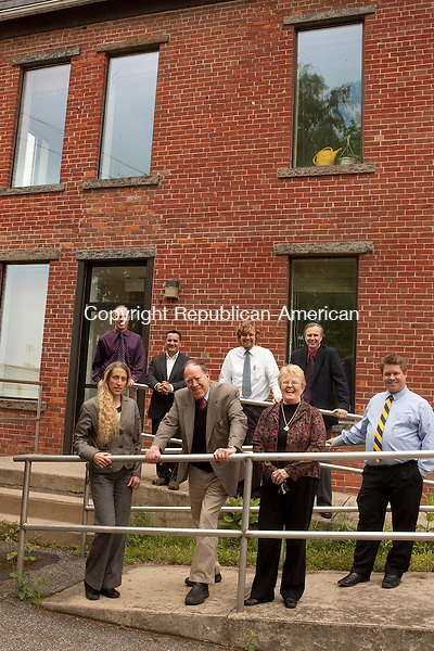 TORRINGTON, CT- MAY 19 2010-051910JS01-The staff of the Republican-American Torrington Bureau on Franklin Street in Torrington.<br /> Jim Shannon Republican-American