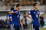 Miura Genta (L) and Muto Yoshinori of Japan (R) react during the AFC Asian Cup UAE 2019 Group F match between Japan (JPN) and Uzbekistan (UZB) at Khalifa Bin Zayed Stadium on 17 January 2019 in Al Ain, United Arab Emirates. Photo by Marcio Rodrigo Machado / Power Sport Images