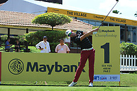Alexander Bjork (SWE) in action on the 1st tee during Round 1 of the Maybank Championship at the Saujana Golf and Country Club in Kuala Lumpur on Thursday 1st February 2018.<br /> Picture:  Thos Caffrey / www.golffile.ie<br /> <br /> All photo usage must carry mandatory copyright credit (© Golffile | Thos Caffrey)