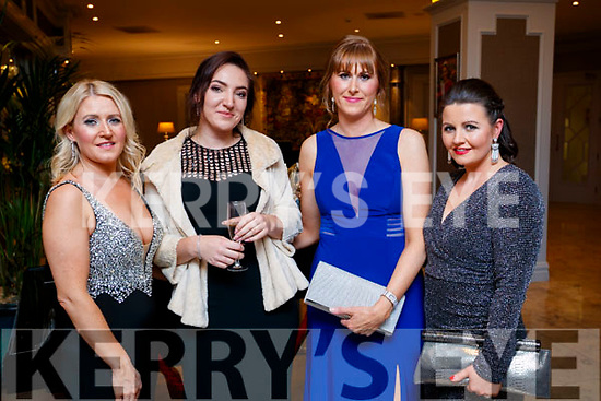 Kate Leen, Marie O'Brien, Siobhan Sheehy and Mairead Canty at the Black Tie ball at the Rose Hotel, Tralee on New Years Eve.