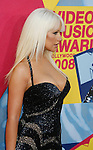 LOS ANGELES, CA. - September 07: Singer Christina Aguilera arrives at the 2008 MTV Video Music Awards at Paramount Pictures Studios on September 7, 2008 in Los Angeles, California.