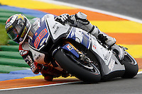 11.11.2012 SPAIN GP Generali de la Comunitat Valenciana Moto GP Race. The picture show Jorge Lorenzo (Spanish rider Yamaha Factory Racing YAMAHA)