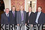 John L O'Connor(Abbeyfeale), Mike Mangan(Knocknagoshal), Dan Dillane(Abbeyfeale) and Maurice and Brian O'Connor(Knocknagoshal) enjoying the Feales Bridge Social last Friday night in The Devon Inn, Templeglantine.